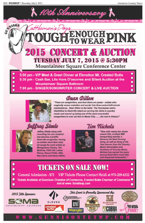 TETWP Concert and Auction Poster