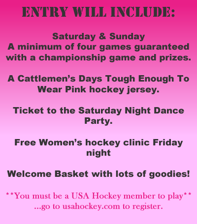 Pink Rink Entry Includes