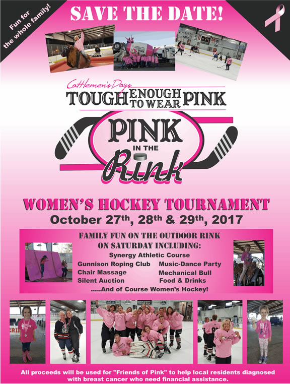 Pink in the Rink Save the Date